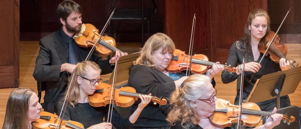 Indianapolis Baroque Orchestra, violins