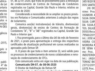 Prorrogação do Prazo para entrega do Certificado de atualização Profissional