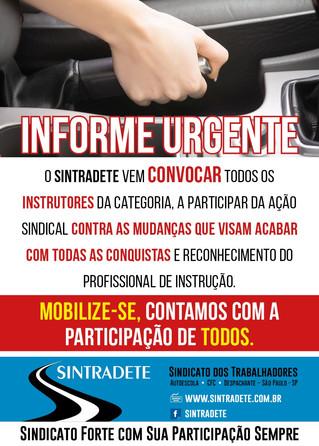 Informe Urgente -  Convocação de toda a classe!