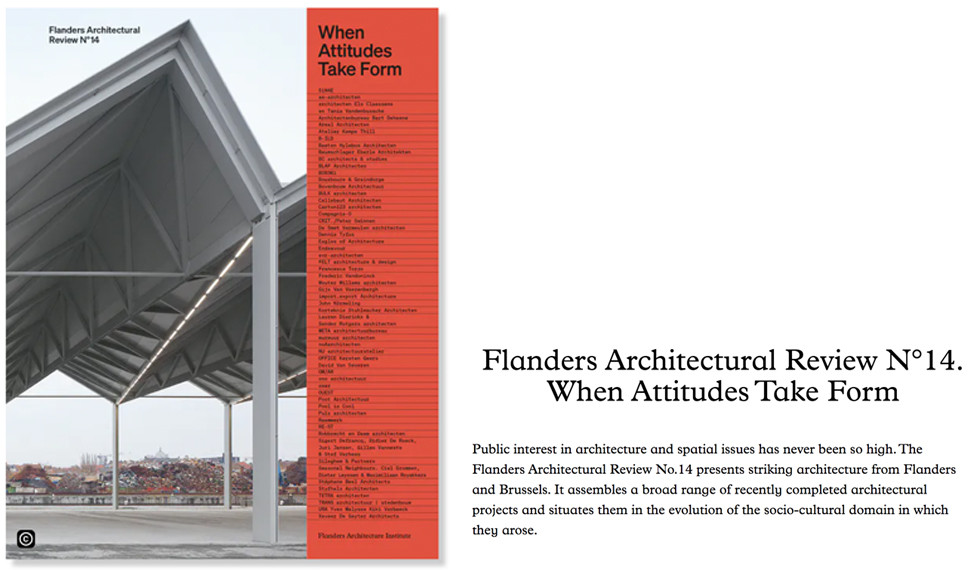 Building Materials Village on the front cover of Flanders Architectural Yearbook Nº14!