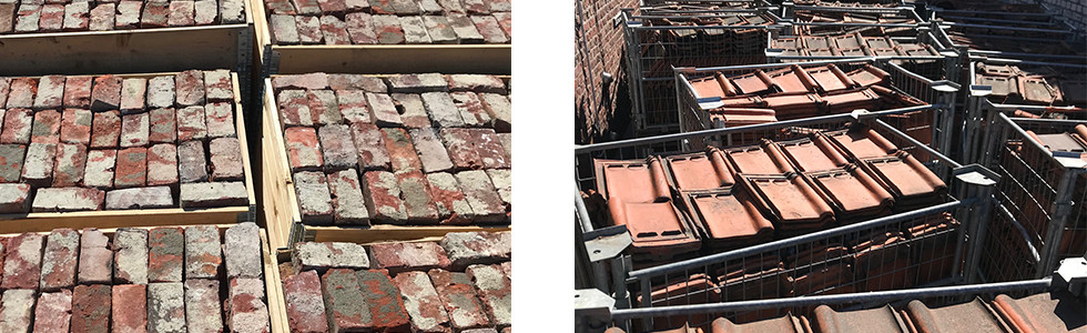 Recovery of the original bricks and tiles in Tuighuisstraat