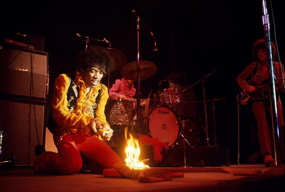 Jimi Hendrix fotografato da Jim Marshall