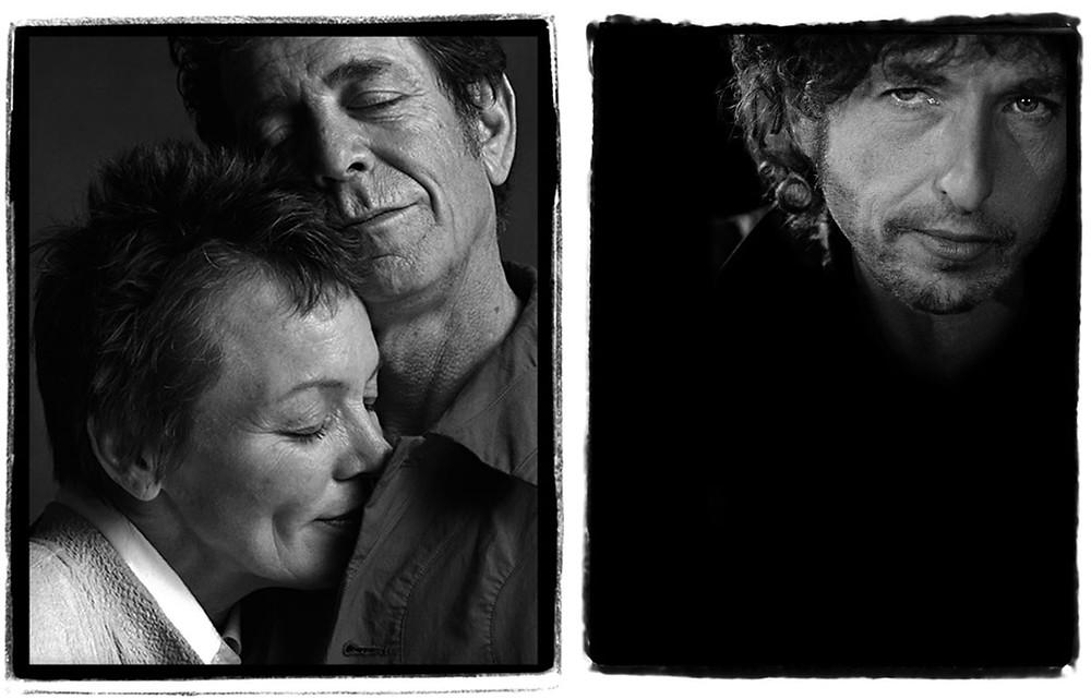 Lou Reed, Laurie Anderson e Bob Dylan fotografati da Guido Harari