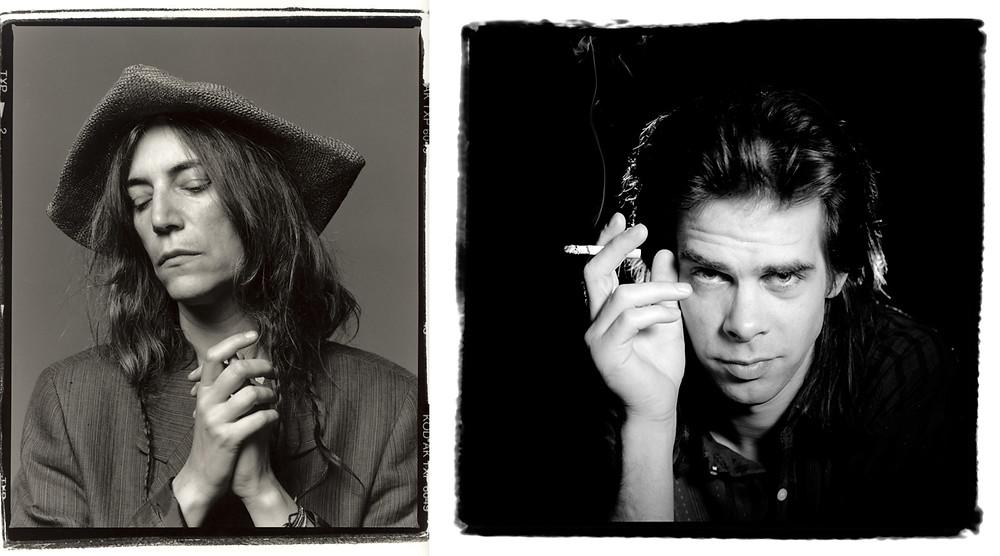 Patti Smith e Nick Cave fotografati da Guido Harari