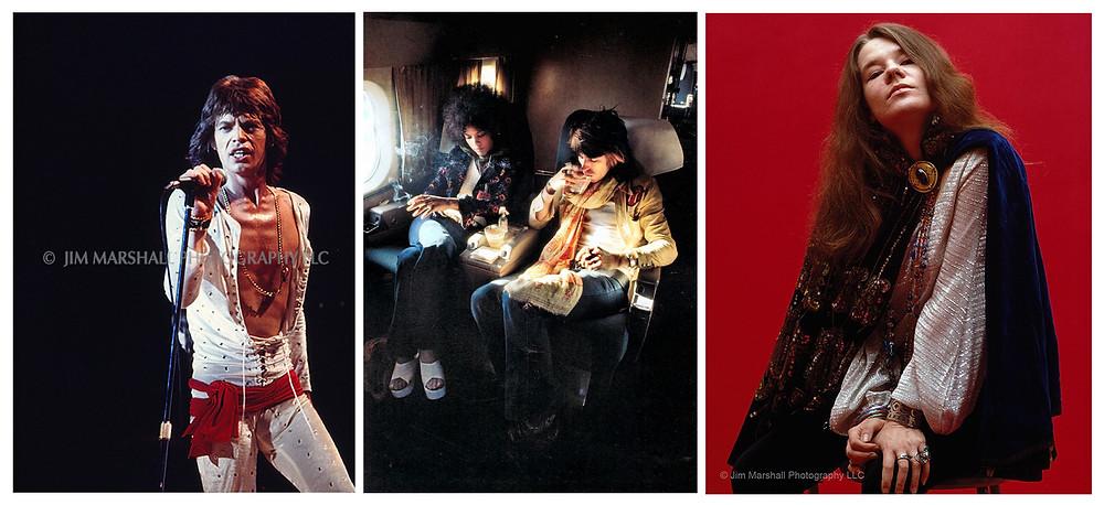 Rolling Stones e Janis Joplin fotografati da Jim Marshall