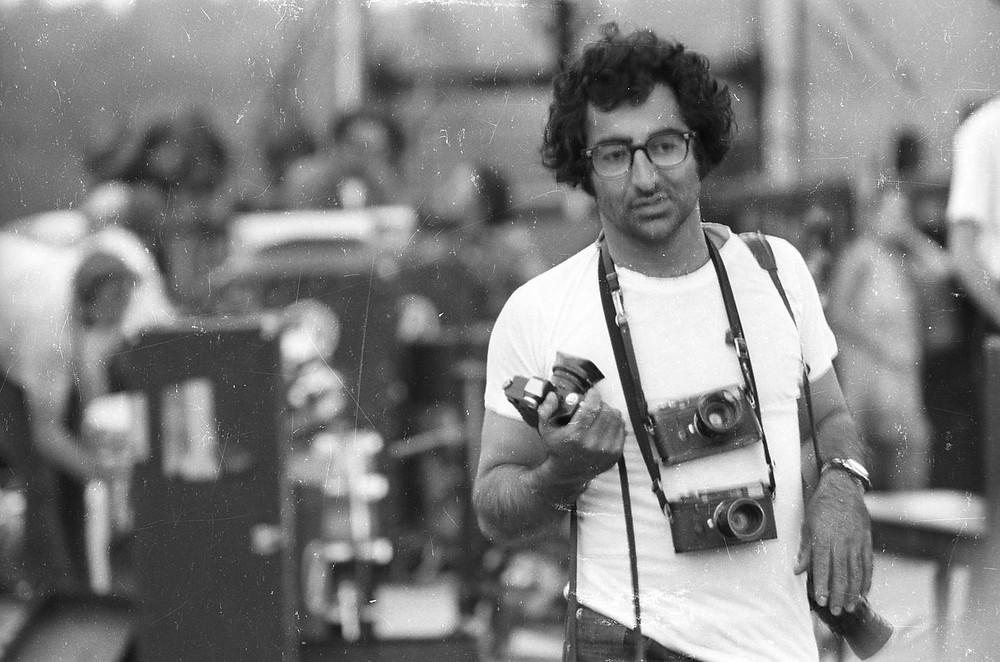 Jim Marshall a Woodstock nel 1969 fotografato da Henry Diltz