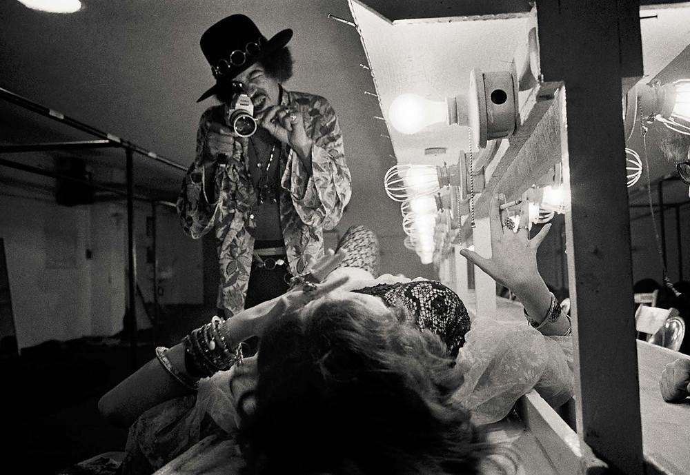 Jimi Hendrix e Janis Joplin fotografati da Jim Marshall