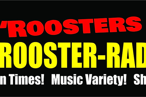 Official Rooster-Radio 'Roosters Bite' Bumper Sticker