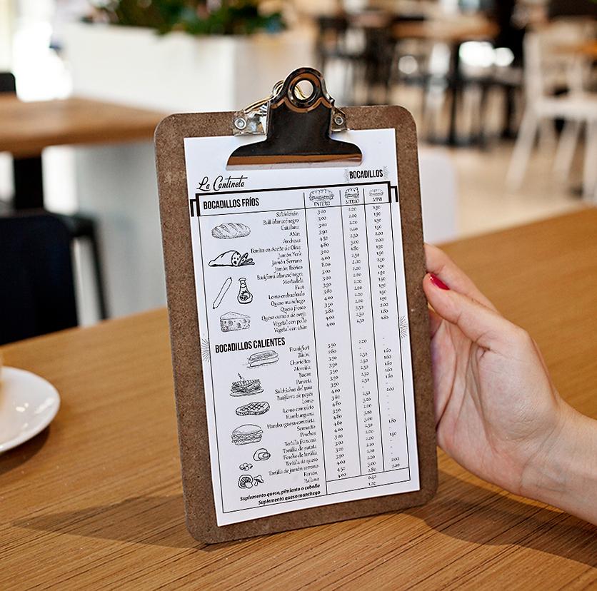 Diseño carta menú