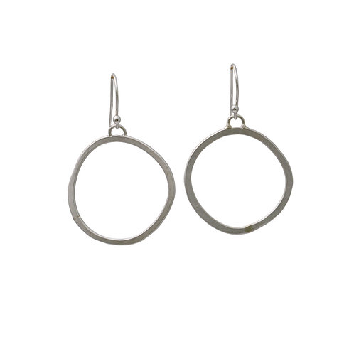 Sterling Silver Lopsided Circles