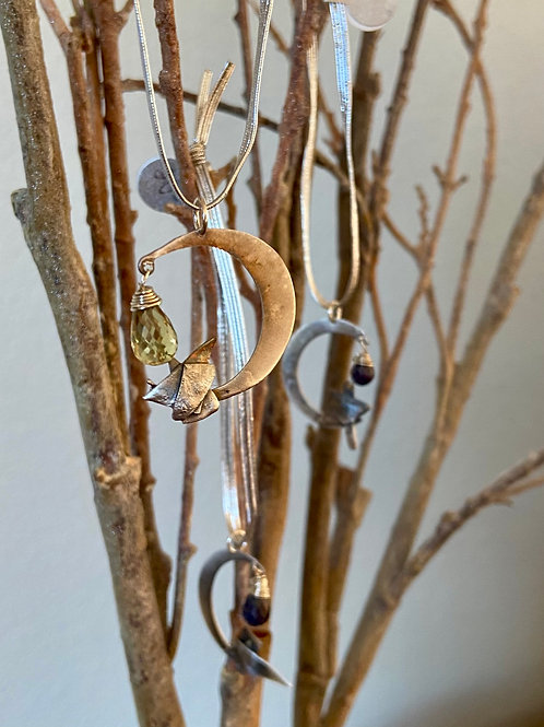Sterling Silver Fused Moon and Star Ornaments