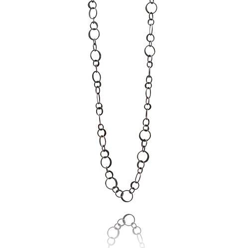 Multi-Sterling Silver Oxidized Chain