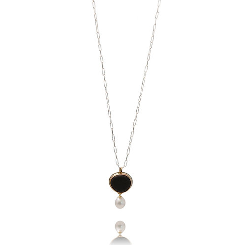 Basalt Stone with Hanging Pearl