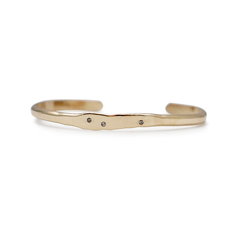 14K Gold Bangle with Diamonds
