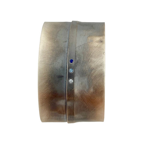 Sterling Silver Cuff with Three Stones