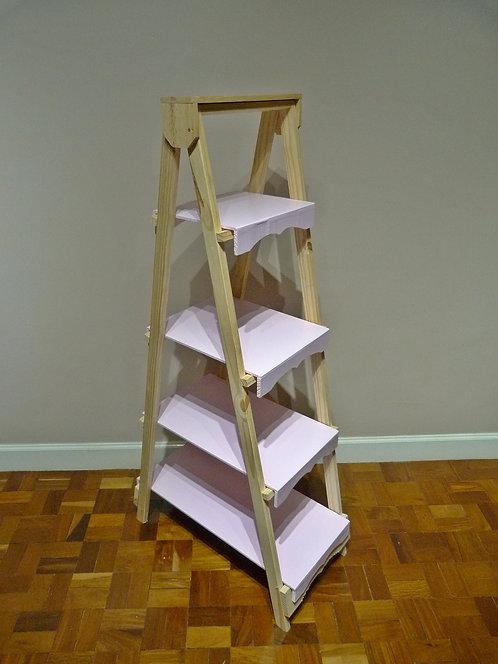 Escada rosa para decoração de festa infantil curitiba