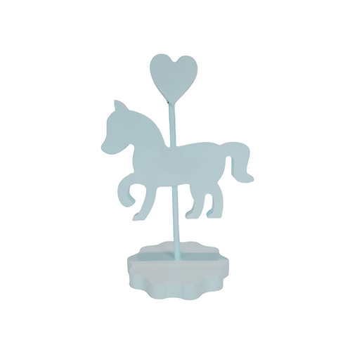 Enfeite - Cavalo - Azul - Carrossel