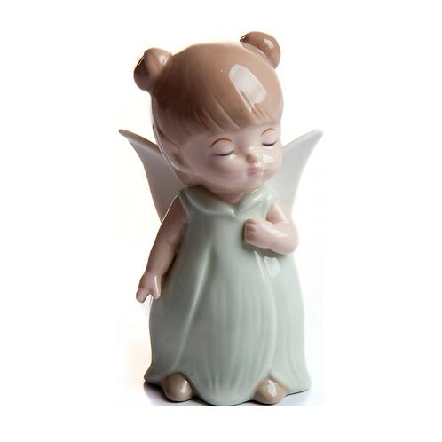 Anjo -  Anjinha - Verde - Porcelana