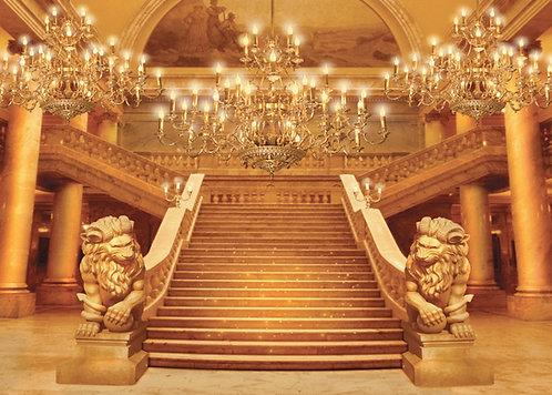Painel tecido sublimação castelo realeza para festas curitiba- Painel castelo 3D para aniversário