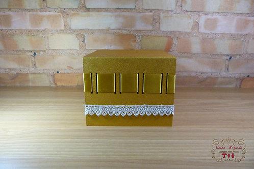 Caixa - Dourada - MDF