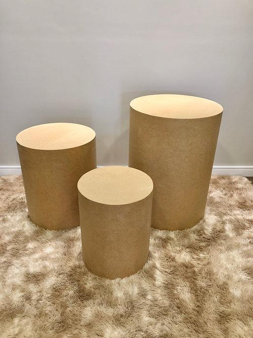 Trio de Cilindros - Crú para forrar tecido