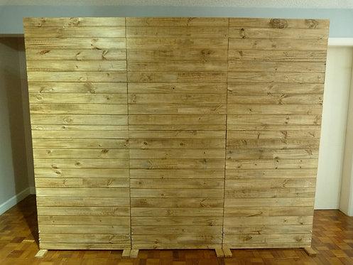 Painel - Pallets - Fechado - Escuro - 2,20m x 2,70m - Desmontável