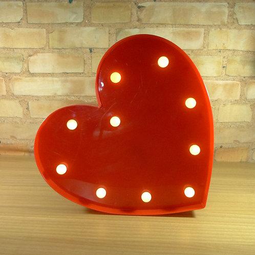 Coração - Vermelho - Luminoso