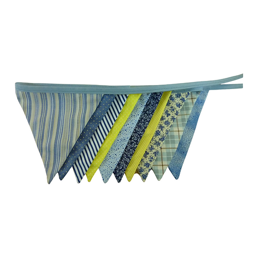 Bandeirola - Azul e Amarelo - Tecido