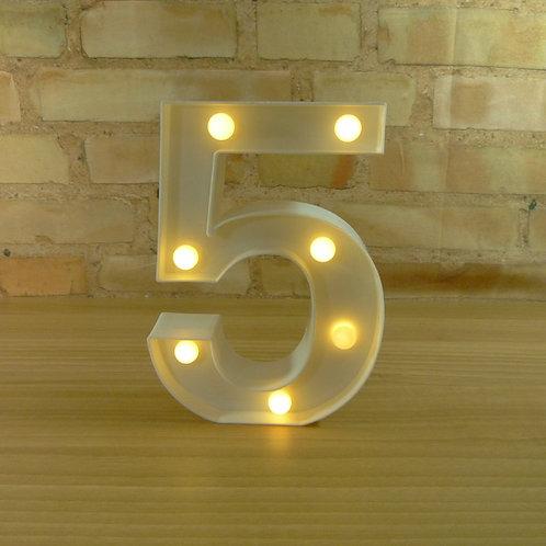Número 5 - Led