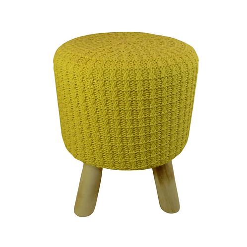 Puff - Amarelo - Crochê