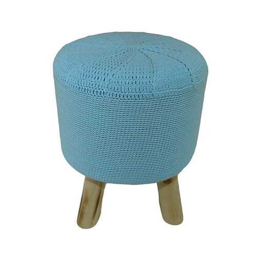 Puff - Azul Claro - Crochê