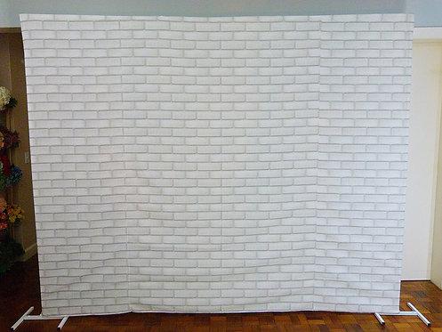 Painel - Tecido - Branco - Tijolinho (suporte a parte)
