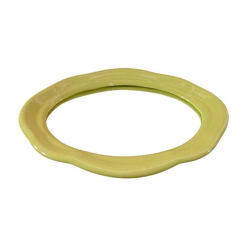 Bandeja - Amarela Clara - Espelhada - Oval