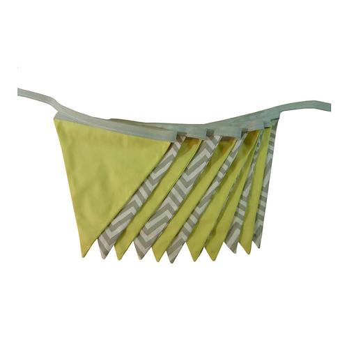 Bandeirola - Amarela e Cinza - Tecido