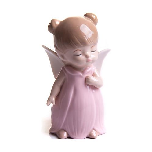 Anjo -  Anjinha - Rosa - Porcelana