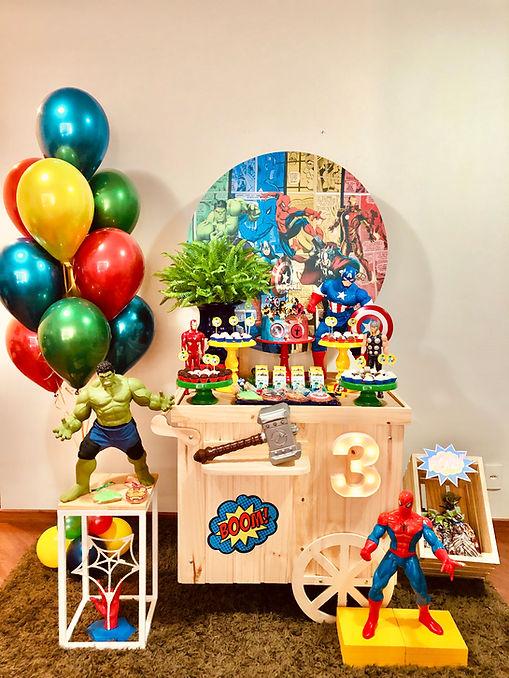 Decoração Festa Infantil Tema Vigadores