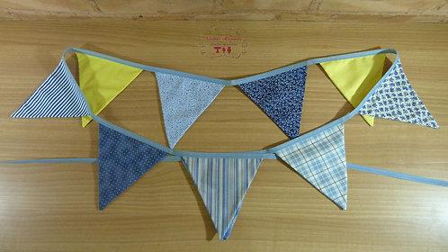 Bandeirola - Tecido - Azul e Amarelo