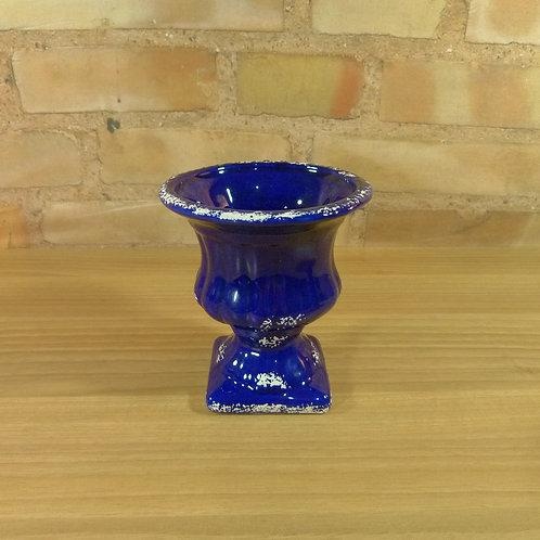 Cachepô - Mini Vaso - Azul Escuro - Grego