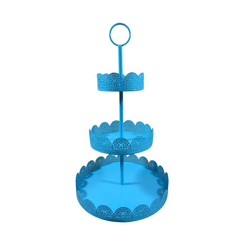 Suporte para Doces - Azul Tiffany - 3 andares