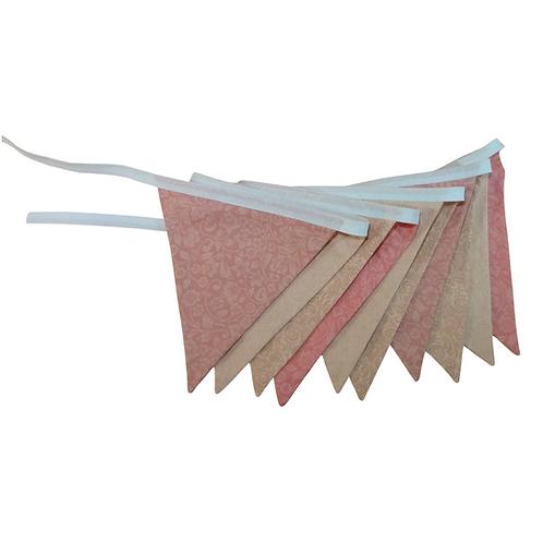 Bandeirola - Tons de Rosa - Tecido