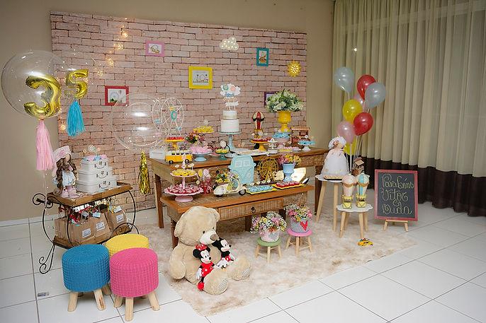 Decoração Festa Infantil Tema Parque de Diversões