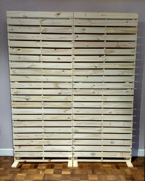 Painel - Pallets - Vazado - Cru - 2,20m x 1,80m - Desmontável