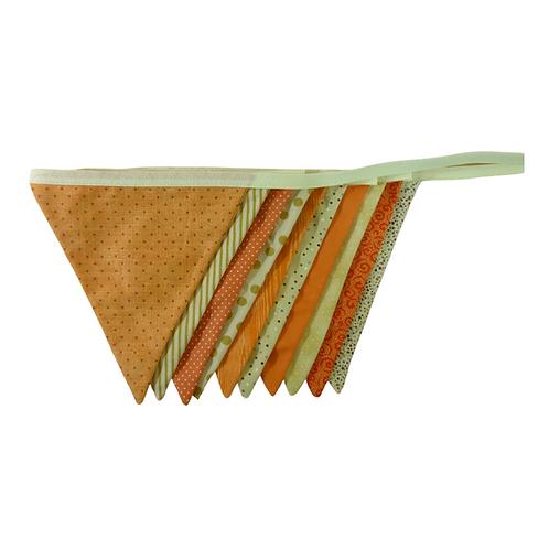 Bandeirola - Laranja e Bege - Tecido
