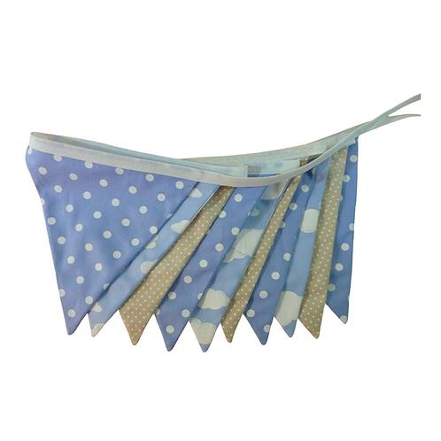Bandeirola - Azul e Bege- Tecido