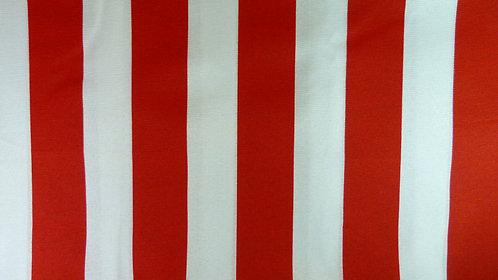Cortina listrada - vermelha e branca (suporte a parte)