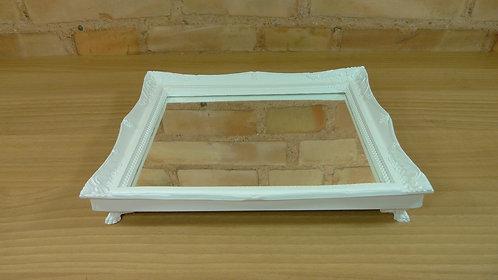 Bandeja - Branca - Rococó - Espelhada