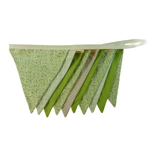 Bandeirola - Tons de Verde - Tecido