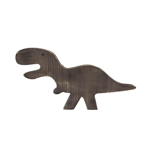 Enfeite - Dinossauro - Marrom - Madeira