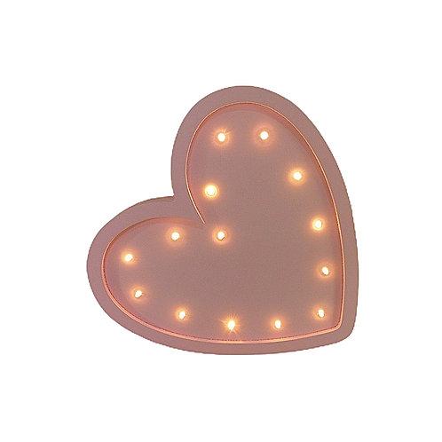 Luminoso - Led - Coração - Rosa