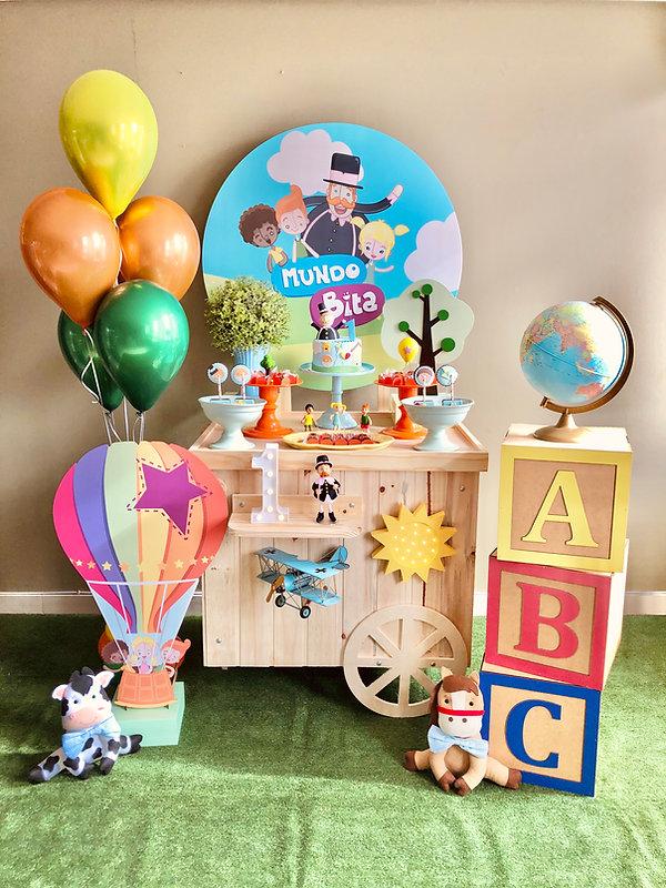 Decoração Festa Infantil Tema Mundo Bita